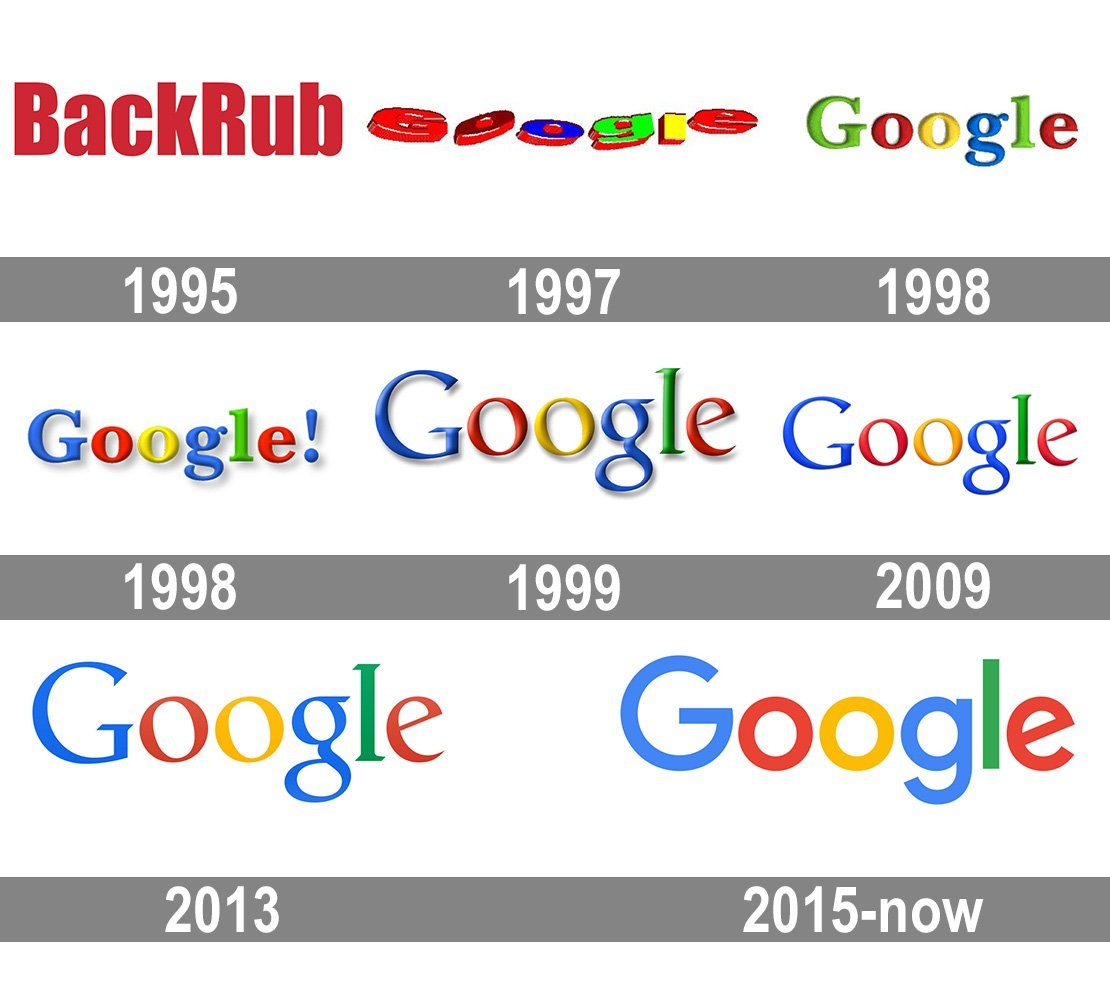 Google Logo History Flat Design